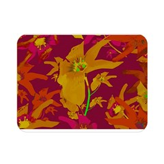 Tropical Hawaiian Style Lilies Collage Double Sided Flano Blanket (mini) by dflcprints