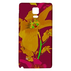 Tropical Hawaiian Style Lilies Collage Samsung Note 4 Hardshell Back Case by dflcprints