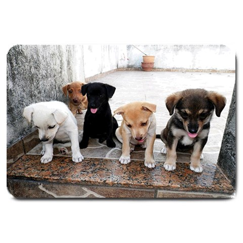 Door Mat Puppy  By Pamela Sue Goforth   Large Doormat   Vrm7va7xx3u0   Www Artscow Com 30 x20 Door Mat - 1