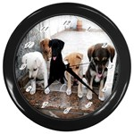 Wall Clock:Puppy  - Wall Clock (Black)