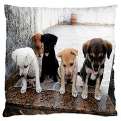 Puppy By Pamela Sue Goforth   Large Flano Cushion Case (two Sides)   Ukjb8oh187c0   Www Artscow Com Back