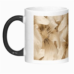 Elegant Floral Pattern In Light Beige Tones Morph Mug by dflcprints