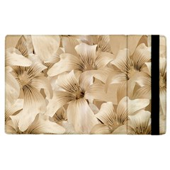 Elegant Floral Pattern In Light Beige Tones Apple Ipad 3/4 Flip Case by dflcprints