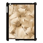 Elegant Floral Pattern in Light Beige Tones Apple iPad 3/4 Case (Black) Front