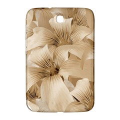 Elegant Floral Pattern In Light Beige Tones Samsung Galaxy Note 8 0 N5100 Hardshell Case  by dflcprints