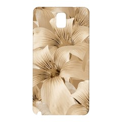 Elegant Floral Pattern In Light Beige Tones Samsung Galaxy Note 3 N9005 Hardshell Back Case by dflcprints