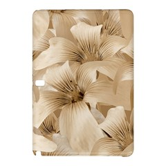 Elegant Floral Pattern In Light Beige Tones Samsung Galaxy Tab Pro 10 1 Hardshell Case by dflcprints