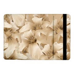 Elegant Floral Pattern In Light Beige Tones Samsung Galaxy Tab Pro 10 1  Flip Case by dflcprints