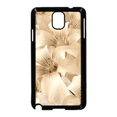 Elegant Floral Pattern In Light Beige Tones Samsung Galaxy Note 3 Neo Hardshell Case (black) by dflcprints