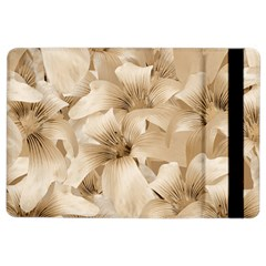 Elegant Floral Pattern In Light Beige Tones Apple Ipad Air 2 Flip Case