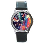 Fractal 1 Round Metal Watch