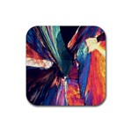 Fractal 1 Rubber Square Coaster (4 pack)