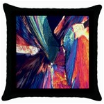 Fractal 1 Throw Pillow Case (Black)