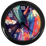 Fractal 1 Wall Clock (Black)
