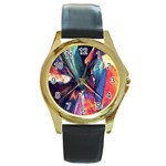 Fractal 1 Round Gold Metal Watch