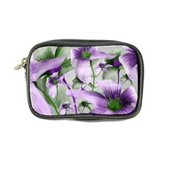Lilies Collage Art In Green And Violet Colors Coin Purse by dflcprints