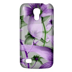 Lilies Collage Art In Green And Violet Colors Samsung Galaxy S4 Mini (gt I9190) Hardshell Case  by dflcprints