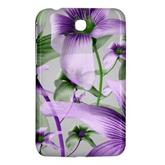 Lilies Collage Art In Green And Violet Colors Samsung Galaxy Tab 3 (7 ) P3200 Hardshell Case  by dflcprints