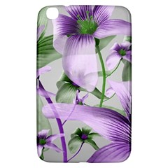 Lilies Collage Art In Green And Violet Colors Samsung Galaxy Tab 3 (8 ) T3100 Hardshell Case  by dflcprints