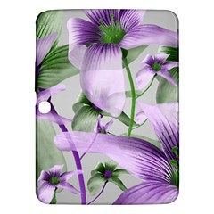 Lilies Collage Art In Green And Violet Colors Samsung Galaxy Tab 3 (10 1 ) P5200 Hardshell Case  by dflcprints