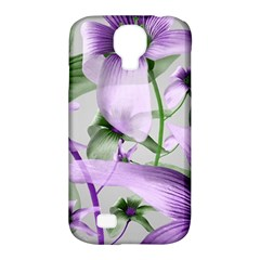 Lilies Collage Art In Green And Violet Colors Samsung Galaxy S4 Classic Hardshell Case (pc+silicone) by dflcprints