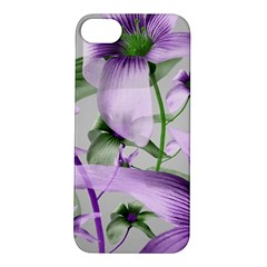 Lilies Collage Art In Green And Violet Colors Apple Iphone 5s Hardshell Case by dflcprints