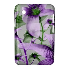 Lilies Collage Art In Green And Violet Colors Samsung Galaxy Tab 2 (7 ) P3100 Hardshell Case  by dflcprints