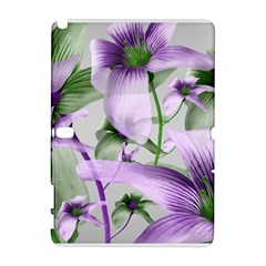 Lilies Collage Art In Green And Violet Colors Samsung Galaxy Note 10 1 (p600) Hardshell Case by dflcprints