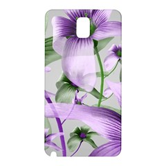 Lilies Collage Art In Green And Violet Colors Samsung Galaxy Note 3 N9005 Hardshell Back Case by dflcprints
