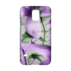 Lilies Collage Art In Green And Violet Colors Samsung Galaxy S5 Hardshell Case  by dflcprints
