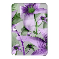 Lilies Collage Art In Green And Violet Colors Samsung Galaxy Tab Pro 10 1 Hardshell Case by dflcprints