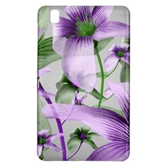 Lilies Collage Art In Green And Violet Colors Samsung Galaxy Tab Pro 8 4 Hardshell Case by dflcprints