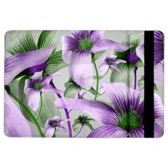 Lilies Collage Art In Green And Violet Colors Apple Ipad Air 2 Flip Case by dflcprints