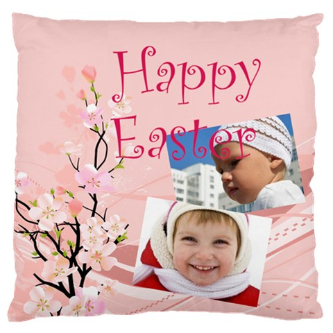 Easter By Easter   Large Flano Cushion Case (one Side)   Atq2pyl4w222   Www Artscow Com Front