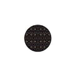 Tribal Dark Geometric Pattern03 1  Mini Button by dflcprints