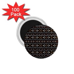 Tribal Dark Geometric Pattern03 1 75  Button Magnet (100 Pack) by dflcprints