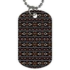 Tribal Dark Geometric Pattern03 Dog Tag (one Sided) by dflcprints