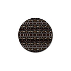 Tribal Dark Geometric Pattern03 Golf Ball Marker 4 Pack by dflcprints