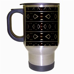 Tribal Dark Geometric Pattern03 Travel Mug (silver Gray) by dflcprints