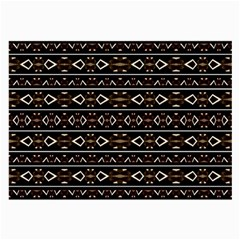 Tribal Dark Geometric Pattern03 Glasses Cloth (large, Two Sided) by dflcprints