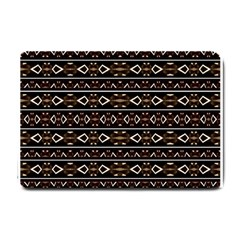 Tribal Dark Geometric Pattern03 Small Door Mat by dflcprints