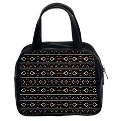 Tribal Dark Geometric Pattern03 Classic Handbag (two Sides) by dflcprints
