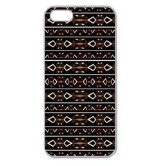 Tribal Dark Geometric Pattern03 Apple Seamless Iphone 5 Case (clear) by dflcprints