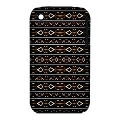 Tribal Dark Geometric Pattern03 Apple Iphone 3g/3gs Hardshell Case (pc+silicone) by dflcprints