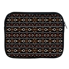 Tribal Dark Geometric Pattern03 Apple Ipad Zippered Sleeve by dflcprints