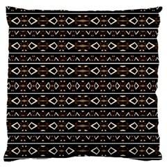 Tribal Dark Geometric Pattern03 Standard Flano Cushion Case (one Side)