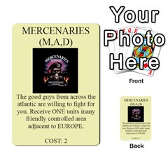 Shattered States Europe Japan Deck 4 By Steve Fowler   Multi Purpose Cards (rectangle)   Lekrvhjd8dh5   Www Artscow Com Front 17
