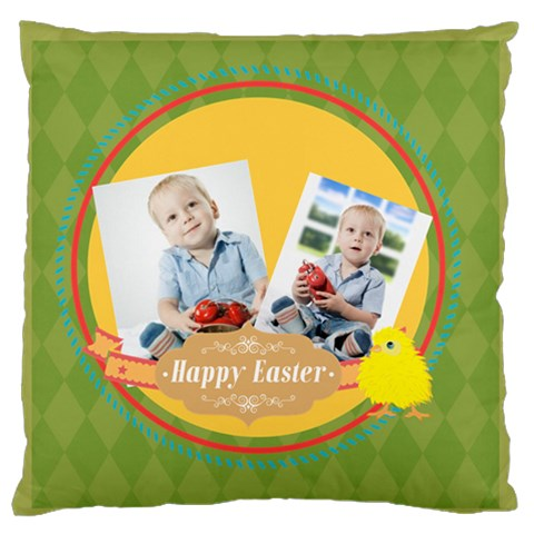 Easter By Easter   Large Flano Cushion Case (one Side)   6fzi0gzejsan   Www Artscow Com Front