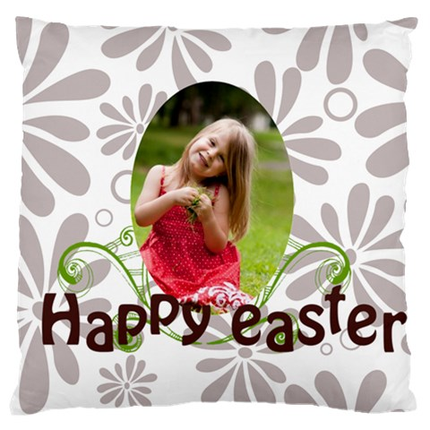 Easter By Easter   Large Flano Cushion Case (one Side)   Pe5z7xt84fwk   Www Artscow Com Front