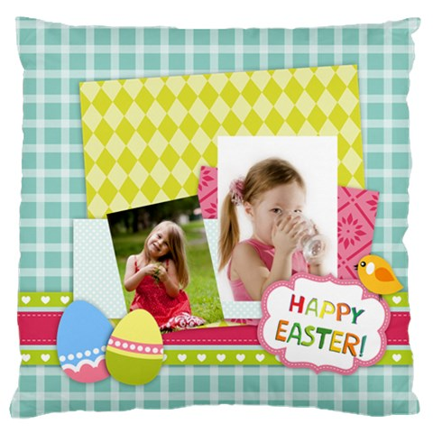 Easter By Easter   Large Flano Cushion Case (one Side)   1dqvozsfxn3k   Www Artscow Com Front
